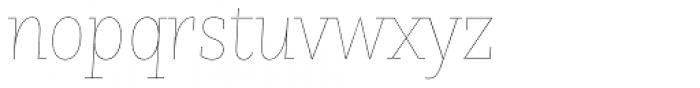 Nomada Slab Hairline Italic Font LOWERCASE