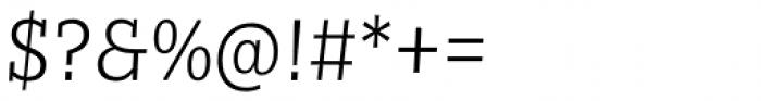 Nomada Slab Thin Italic Font OTHER CHARS