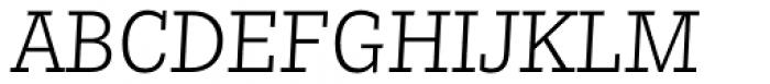 Nomada Slab Thin Italic Font UPPERCASE