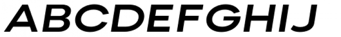 Nominee Bold Extended Italic Font UPPERCASE