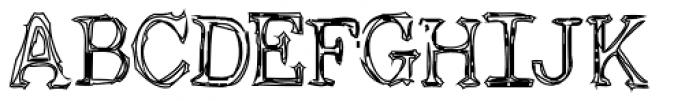 Non Linear Open Font UPPERCASE