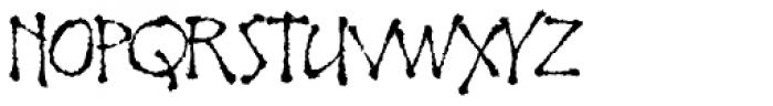 Noobia Rough Font UPPERCASE
