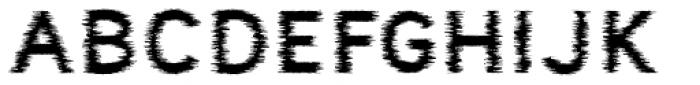 Nora Art Glitch Font UPPERCASE