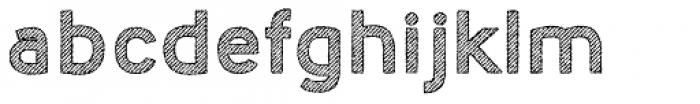 Nora Art Line Outline Rough Font LOWERCASE