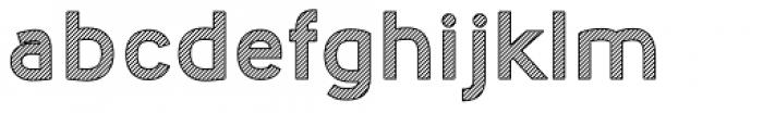 Nora Art Line Outline Font LOWERCASE