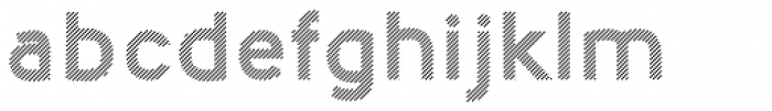 Nora Art Line Font LOWERCASE