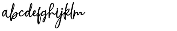 Nora Halim Regular Font LOWERCASE