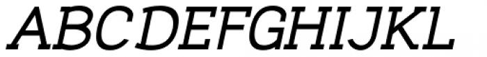 Nora Slab Heavy Oblique Font UPPERCASE