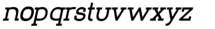 Nora Slab Heavy Oblique Font LOWERCASE