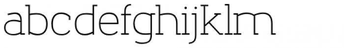 Nora Slab Regular Font LOWERCASE