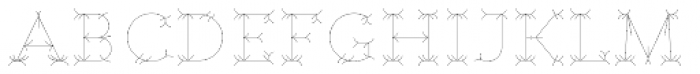 Nord Inline Font UPPERCASE