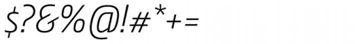Nordic Narrow Pro ExtraLight Italic Font OTHER CHARS