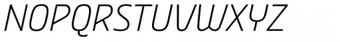 Nordic Narrow Pro ExtraLight Italic Font UPPERCASE