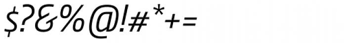 Nordic Narrow Pro Light Italic Font OTHER CHARS