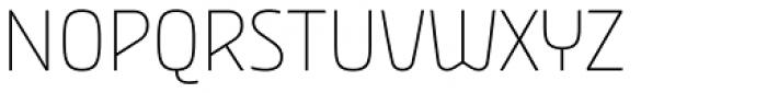 Nordic Narrow Pro Thin Font UPPERCASE