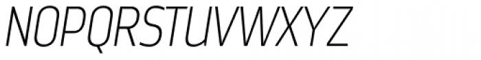 Nordikka Extra Light Italic Font UPPERCASE