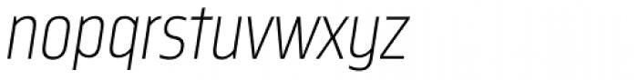 Nordikka Extra Light Italic Font LOWERCASE