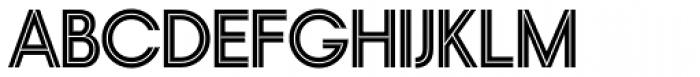 Nordique Pro Inline Font UPPERCASE