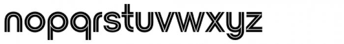 Nordique Pro Inline Font LOWERCASE