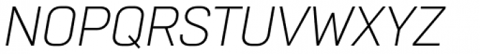 Normative Pro Light Italic Font UPPERCASE