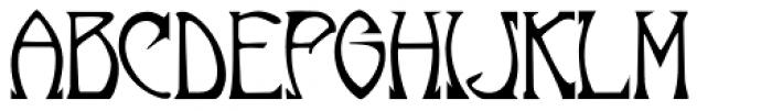 Norumbega Font UPPERCASE
