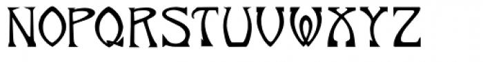 Norumbega Font LOWERCASE
