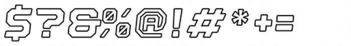 Nostromo Black Italic Outline Font OTHER CHARS