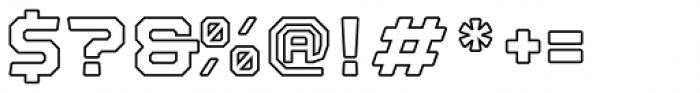 Nostromo Black Outline Font OTHER CHARS