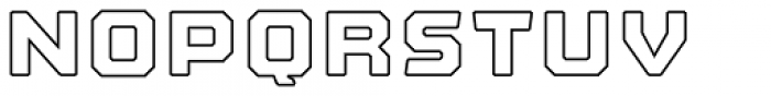 Nostromo Heavy Outline Font LOWERCASE
