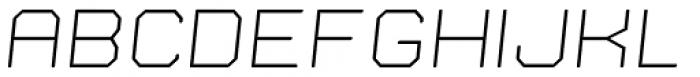 Nostromo Light Italic Font LOWERCASE