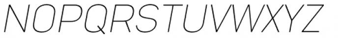 Nota Rounded Thin Italic Font UPPERCASE