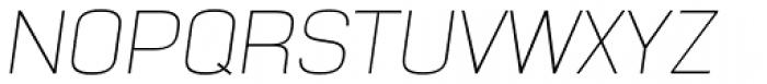 NotaBene Thin Oblique Font UPPERCASE