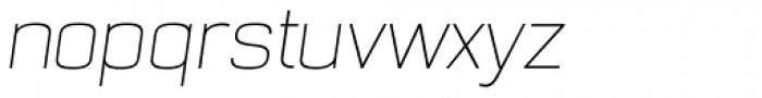 NotaBene Thin Oblique Font LOWERCASE
