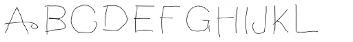 Notebook Scribble Font UPPERCASE