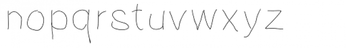 Notebook Scribble Font LOWERCASE
