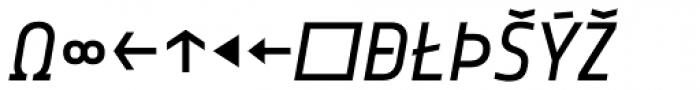 Notes Italic Expert Font UPPERCASE