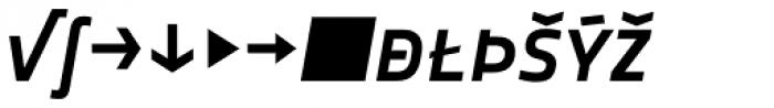 Notes Medium Italic Caps Expert Font LOWERCASE