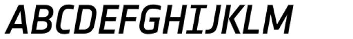Notes Medium Italic Caps TF Font UPPERCASE