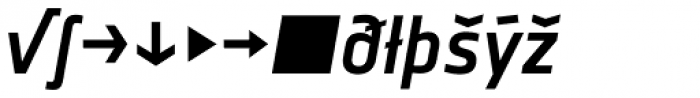 Notes Medium Italic Expert Font LOWERCASE