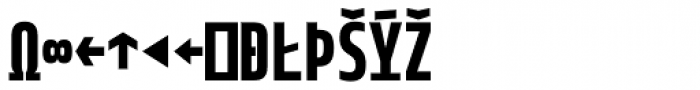 Notes Tec Mono Bold Expert Font UPPERCASE