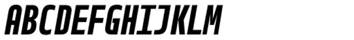 Notes Tec Mono Bold Italic Font UPPERCASE