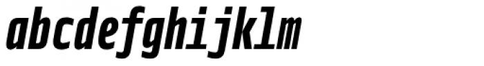 Notes Tec Mono Bold Italic Font LOWERCASE