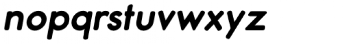 Noticia Oblique Extrabold Rounded Font LOWERCASE
