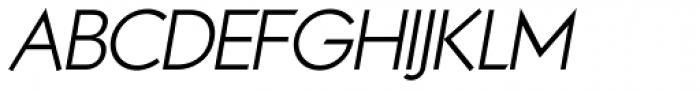 Noticia Oblique Light Font UPPERCASE
