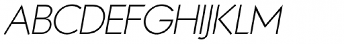 Noticia Oblique Thin Font UPPERCASE
