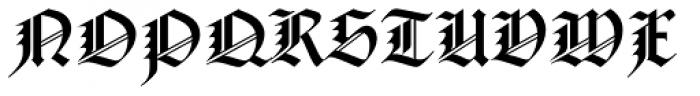 Notre Dame Roman Font UPPERCASE