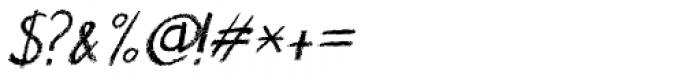 Nouveau Crayon Italic Font OTHER CHARS
