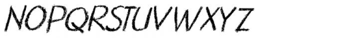 Nouveau Crayon Italic Font UPPERCASE