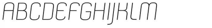 Nouvelle Light Italic Font UPPERCASE