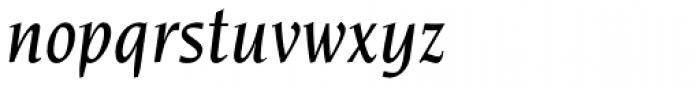 Novarese Std Medium Italic Font LOWERCASE